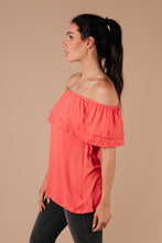 Load image into Gallery viewer, Sexy Señorita Off-Shoulder Top In Pink - Smith & Vena Online Boutique