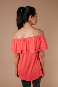 Sexy Señorita Off-Shoulder Top In Pink - Smith & Vena Online Boutique