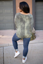 Load image into Gallery viewer, Slouchy Sleeve Top in Olive - Smith & Vena Online Boutique