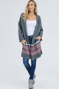 Stephanie Hooded Cardgian - Smith & Vena Online Boutique