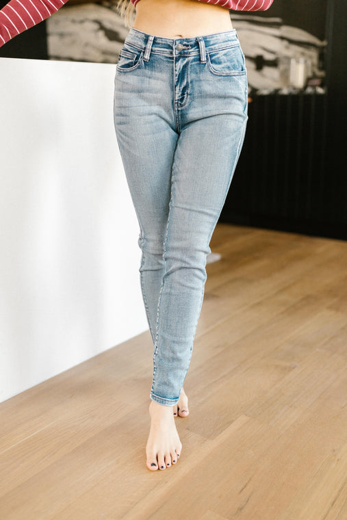 Alexa Lightwash Stone Denim - Smith & Vena Online Boutique