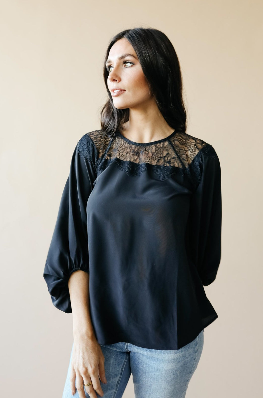 Straight Laced Blouse In Black - Smith & Vena Online Boutique
