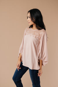 Straight Laced Blouse In Blush - Smith & Vena Online Boutique
