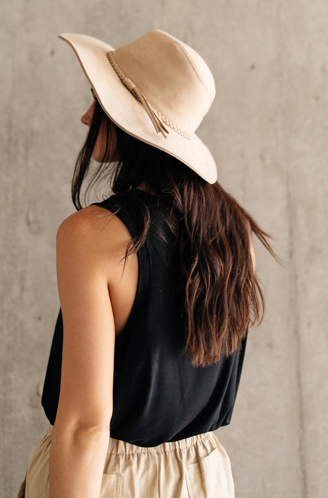 Suede In The Shade Hat In Natural - Smith & Vena Online Boutique