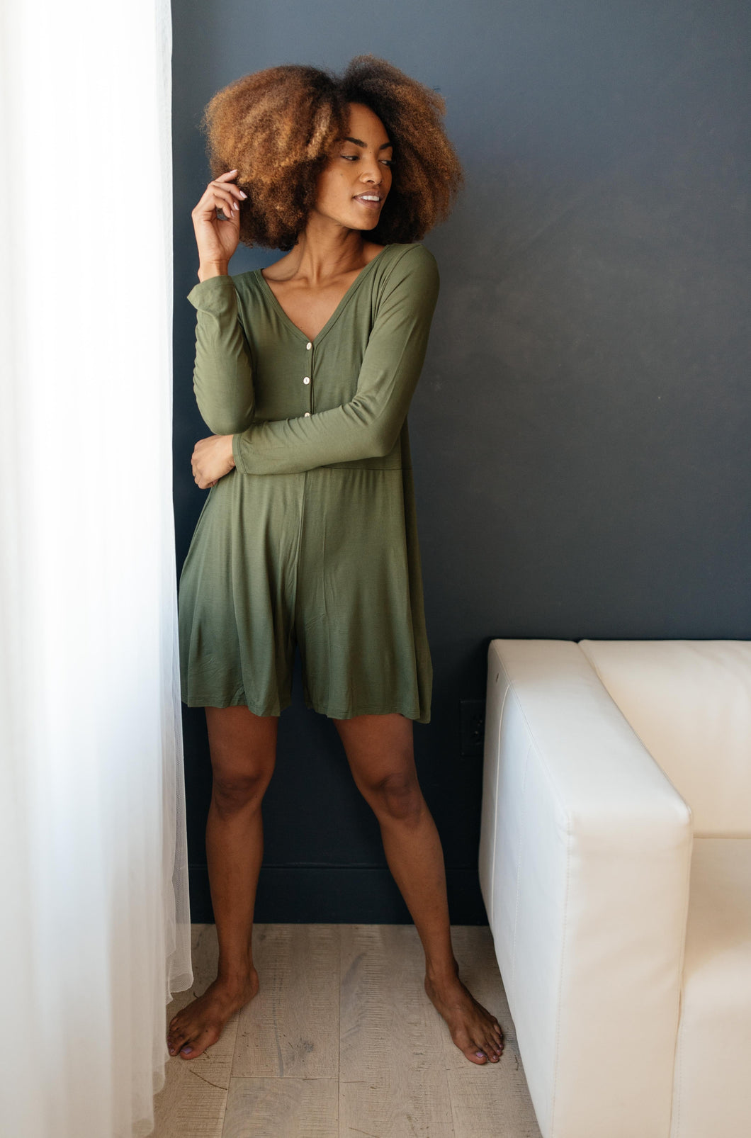 Sweet Dreams Romper in Olive - Smith & Vena Online Boutique