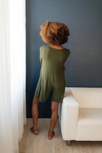 Load image into Gallery viewer, Sweet Dreams Romper in Olive - Smith & Vena Online Boutique
