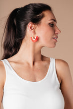 Load image into Gallery viewer, Tasseled V Earrings In RED - Smith & Vena Online Boutique