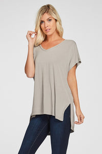 X Tawny Tee - Taupe - Smith & Vena Online Boutique