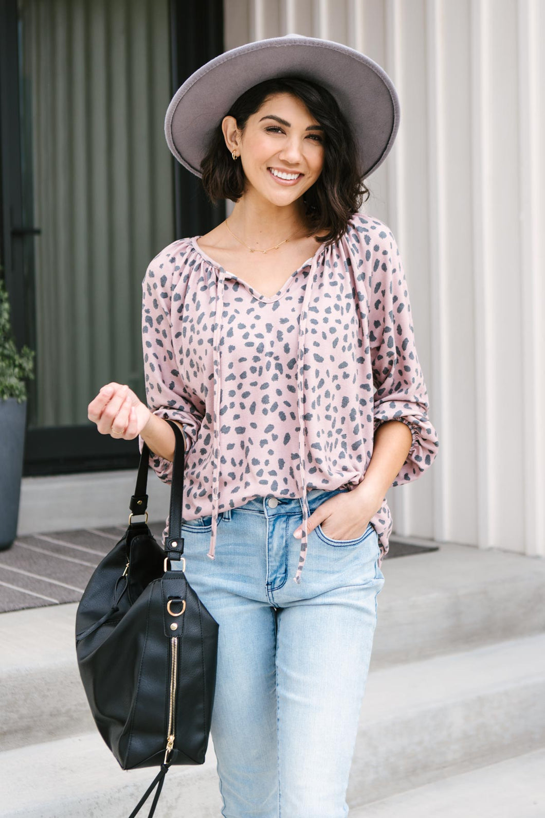 The Allie Animal Print Top - Smith & Vena