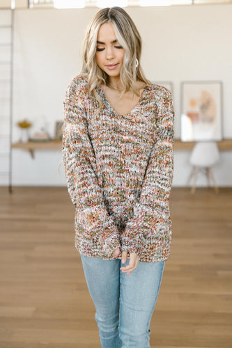 Colorful Knit Sweater - Smith & Vena Online Boutique