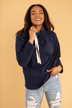 Load image into Gallery viewer, The Mia Leopard and Navy Cowl Neck - Smith & Vena Online Boutique