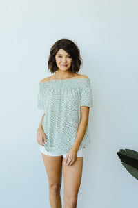 Shannon Smocked Blouse- Sage - Smith & Vena Online Boutique