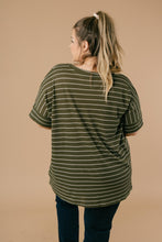 Load image into Gallery viewer, Mila Striped Tee In Olive