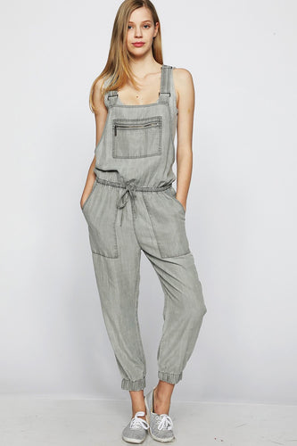 Twill Jogger Overalls - FINAL SALE - Smith & Vena Online Boutique