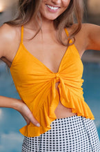 Load image into Gallery viewer, Twisted Sunshine Swim Top - Smith & Vena