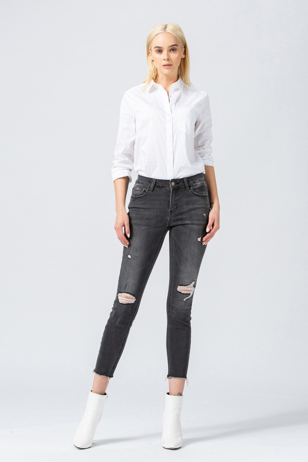 Amber Mid Rise Skinny - Smith & Vena Online Boutique