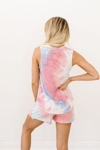 Watercolor Tie Dye Tank In Pink - Smith & Vena Online Boutique
