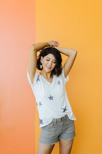 Wish Upon A Star Top In White - Smith & Vena Online Boutique
