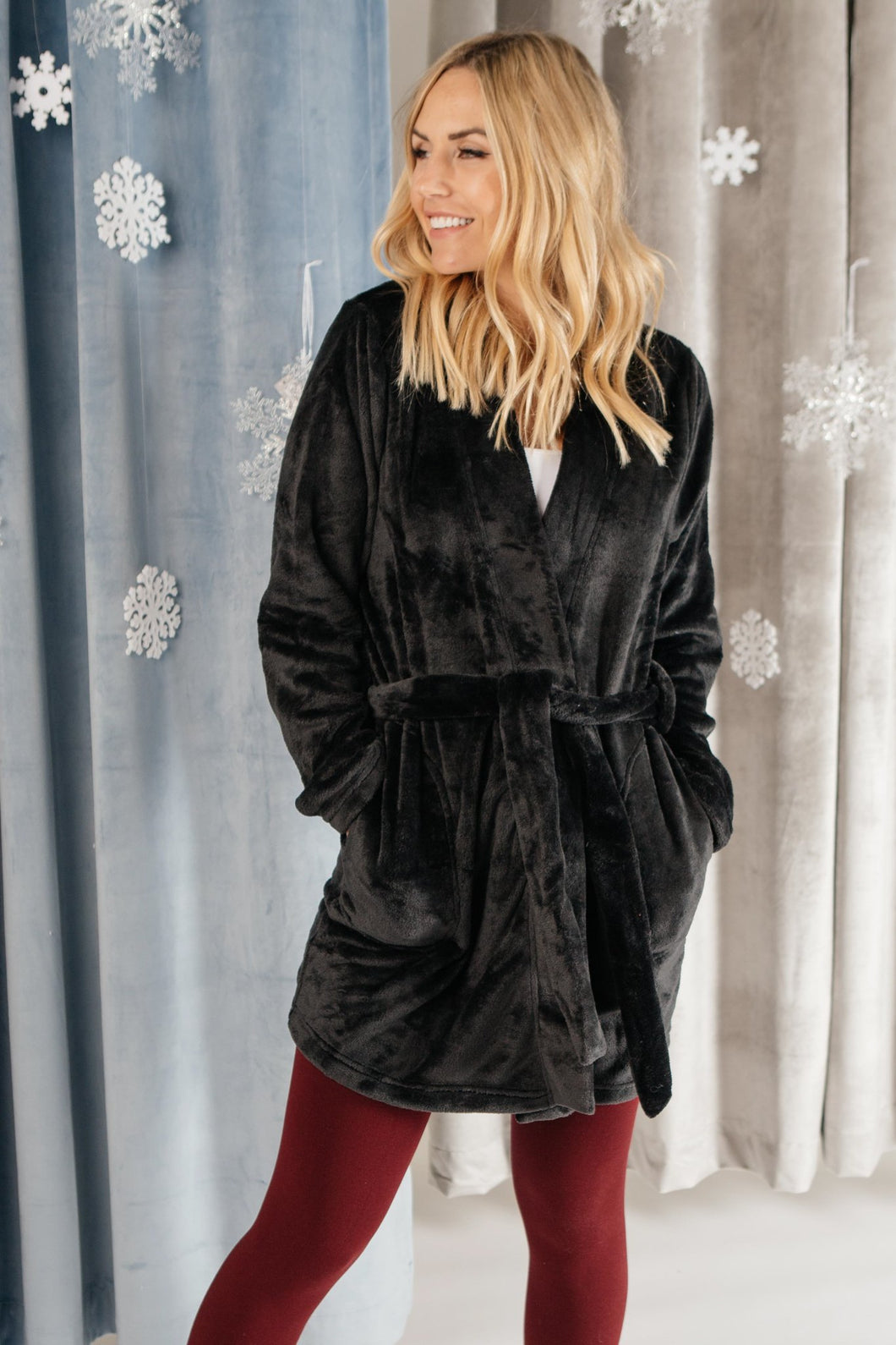 You Time Robe in Black - Smith & Vena Online Boutique