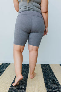 Aero Biker Shorts In Charcoal - Smith & Vena Online Boutique