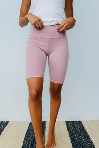 Aero Biker Shorts In Mauve - Smith & Vena Online Boutique