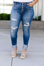 Load image into Gallery viewer, Buttons Holes & Cuffs Jeans - Smith & Vena Online Boutique