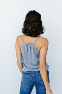 Charlize Surplice Tank In Flint - Smith & Vena Online Boutique