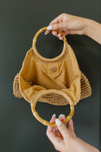 Load image into Gallery viewer, Circle The Globe Bamboo Handle Bag - Smith & Vena Online Boutique
