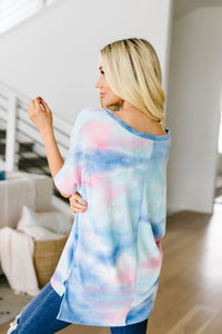 Clouds Of Blue & Pink Tie Dye Top - Smith & Vena Online Boutique