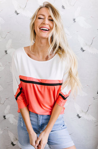 Coraline Colorblock Top - Smith & Vena Online Boutique