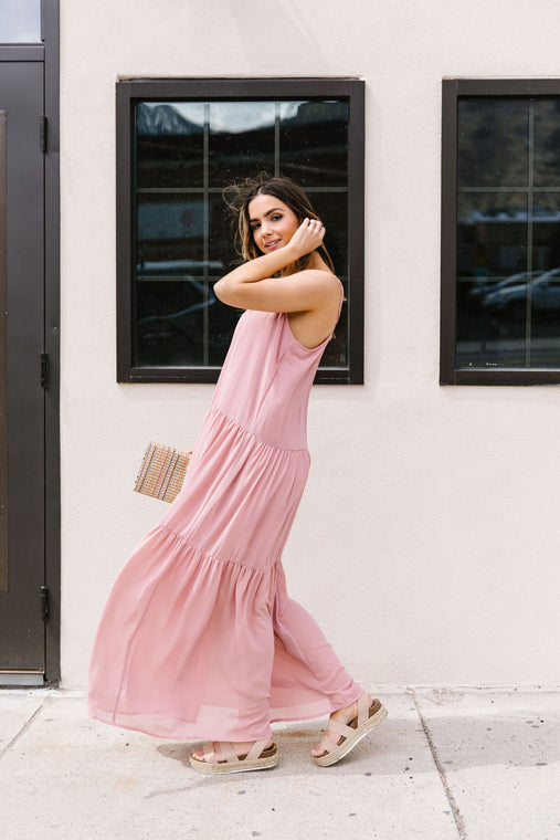 Dreamy Layered Chiffon Dress - Smith & Vena Online Boutique