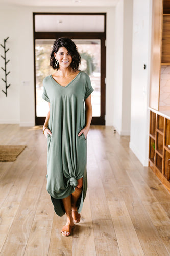 Free And Easy Maxi Dress- Olive - Smith & Vena Online Boutique