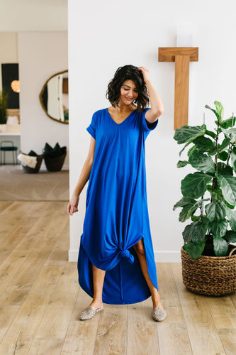 Free And Easy Maxi Dress- Royal Blue - Smith & Vena Online Boutique