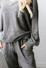 Load image into Gallery viewer, Galaxy Charcoal Top - Smith & Vena Online Boutique