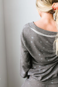 Galaxy Charcoal Top - Smith & Vena Online Boutique