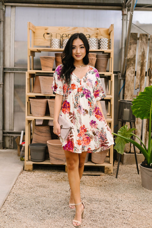 Glorious Garden Floral Dress - Smith & Vena Online Boutique
