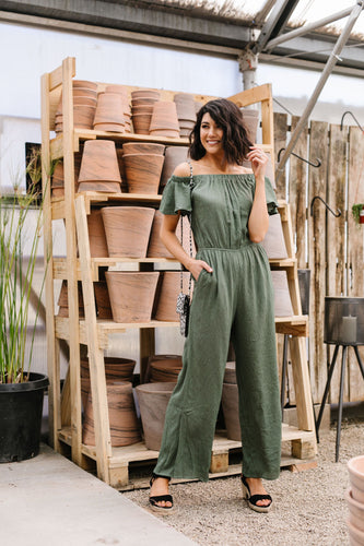 Cassidy Jumpsuit- Olive