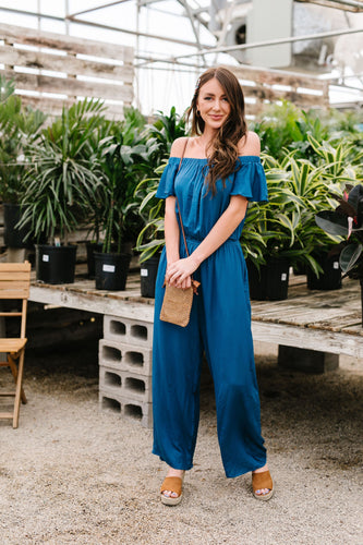 Cassidy Jumpsuit- Teal