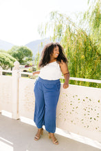 Load image into Gallery viewer, Zoe Gaucho Pants In Navy - Smith & Vena Online Boutique