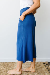 Zoe Gaucho Pants In Navy - Smith & Vena Online Boutique