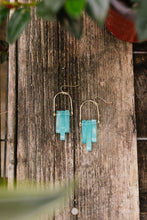Load image into Gallery viewer, Good Things Earrings In Aqua - Smith & Vena Online Boutique