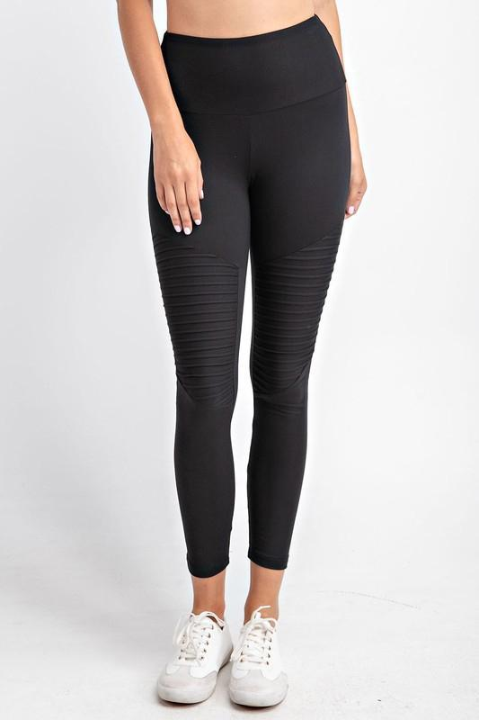 Soft As Butter Moto Leggings in Black - Smith & Vena Online Boutique