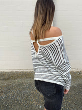 Load image into Gallery viewer, Jackie Stripe Sweater - Smith & Vena Online Boutique