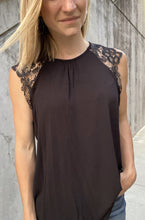 Load image into Gallery viewer, Chloe Lace Top - Black - Smith & Vena Online Boutique