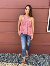 Load image into Gallery viewer, Rose Faded Batik Top - Smith & Vena Online Boutique
