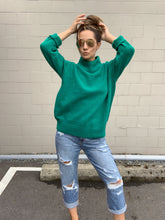 Load image into Gallery viewer, X Raven Mock Neck Sweater - Green - Smith & Vena Online Boutique