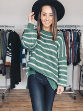Load image into Gallery viewer, Jody Stripe Sweater- Sage - Smith & Vena Online Boutique