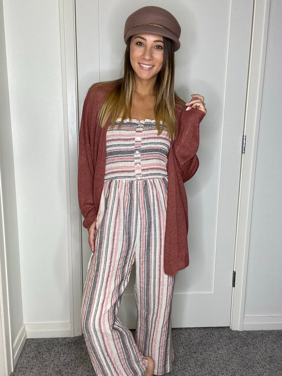 Alicia Striped Jumpsuit