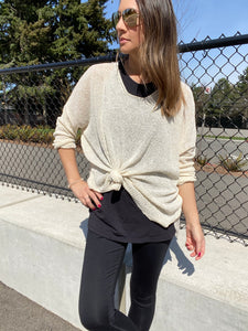 Gracie Sheer Sweater - Smith & Vena Online Boutique