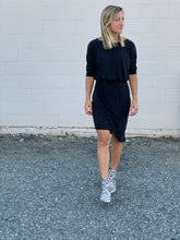 Load image into Gallery viewer, X Tanya Surplice Dress - Black - FINAL SALE - Smith & Vena Online Boutique